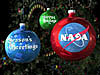 NASA Christmas tree ornaments