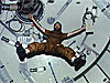 Man floats inside Skylab