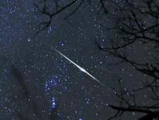 Quadrantid meteor shower, 2011, all rights reserved by Jeff Berkes, used with permission.