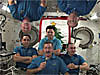 Six crew members float aboard the space station