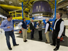 NASA Deputy Administrator Lori Garver meets Blue Origin Founder Jeff Bezos and other Blue Origin team members. Photo credit: NASA/Bill Ingalls