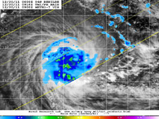 TRMM image of Tropical Cyclone Benilde