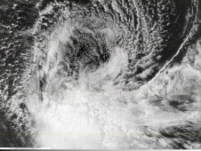 On Jan. 5 at 09:10 UTC (4:10 a.m. EST) Benilde appeared elongated as a result of wind shear.