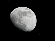 Moon and International Space Station