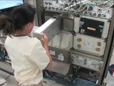 Astronaut Shannon Walker activates NanoRacks aboard the International Space Station. Image credit: NASA