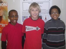 (Left to right) Michael Prince, Maxx Denning and Aaron Stuart coauthored the proposal titled