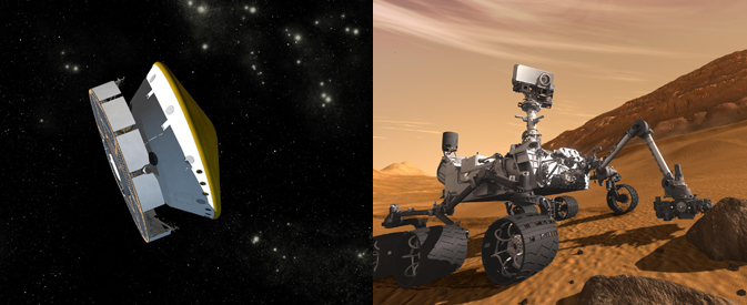 Artist's concept illustrations of the Mars Science Laboratory