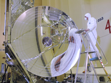 The Herschel telescope.
