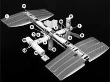 International Space Station paper model