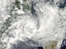 NASA's Aqua satellite captured a visible look at the clouds in Tropical Cyclone Funso