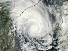 Tropical Cyclone Funso was captured by the MODIS instrument on NASA's Aqua satellite on Jan. 24 at 11:20 UTC