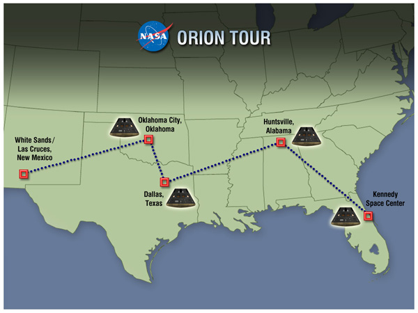 Orion tour map