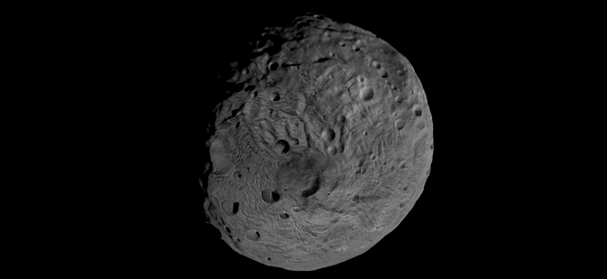 South pole of asteroid Vesta