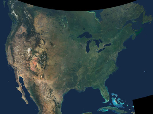 NASA America The Beautiful - North america satellite image