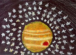 Drawing of the planet Jupiter by Kevin