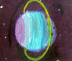 Drawing of the planet Uranus by Misty
