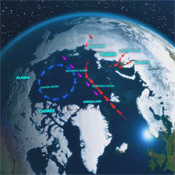 NASA Finds Russian Runoff Freshening Canadian Arctic
