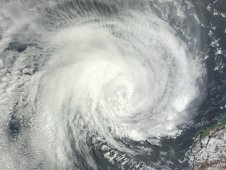 MODIS captured a true color image of Tropical Cyclone Iggy on January 30, 2012.