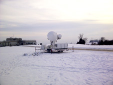This radar scans the air column for snow falling from the clouds to the ground.