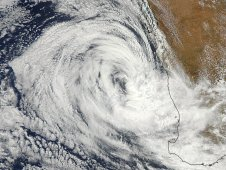 MODIS captured a true color image of Tropical Cyclone Iggy on Feb. 2, 2012 at 0615 UTC