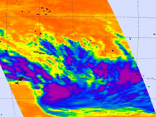 AIRS captured this image of Tropical Storm 11P on February 6, 2012 at 0053 UTC.
