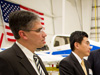 Michael Gazarik and NASA officials visit Aurora Flight Sciences
