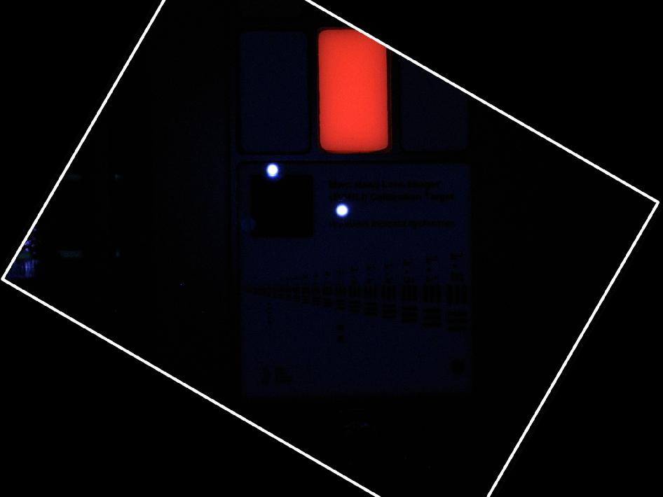MAHLI calibration target in ultraviolet light