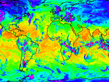 CRIS infrared data map of earth