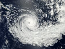 MODIS captured Tropical Cyclone Jasmine on February 10 at 02:10 UTC (Feb 9 at 9:10 p.m. EST).