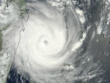 MODIS captured this visible image of Tropical Cyclone Giovanna on Feb. 13, 2012 at 06:35 UTC