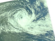 Tropical Storm Jasmine captured by AIRS on Feb. 12, 2012 as it neared Tonga.