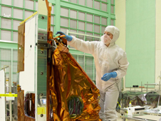 TIRS instrument in a NASA Goddard clean room