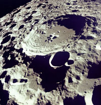 Crater 308 Viewed from Lunar Orbit