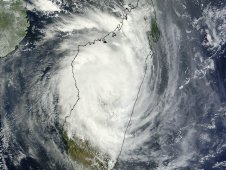 On February 14, 2012 at 07:15 UTC, MODIS captured this visible image of Cyclone Giovanna