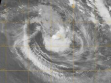 The MODIS instrument on NASA's Terra Satellite captured this infrared image of Cyclone Jasmine near Tonga.