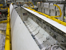 Discovery's payload bay doors close for the last time