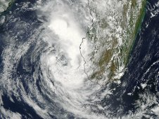MODIS captured a visible image of Cyclone Giovanna at 10:45 UTC (5:45 a.m. EST) on February 15, 2012.