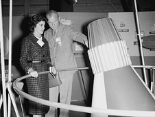 John and Annie Glenn visit NASA Langley in 1959
