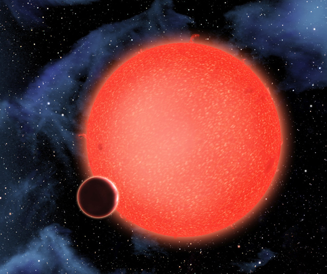 ARTIST'S VIEW OF EXTRASOLAR PLANET GJ1214B