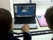 Students in Argentina prepare for their videoconference with NASA