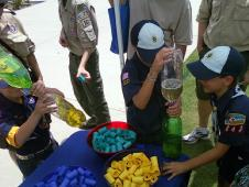 Boy Scouts enjoy the LSP booth