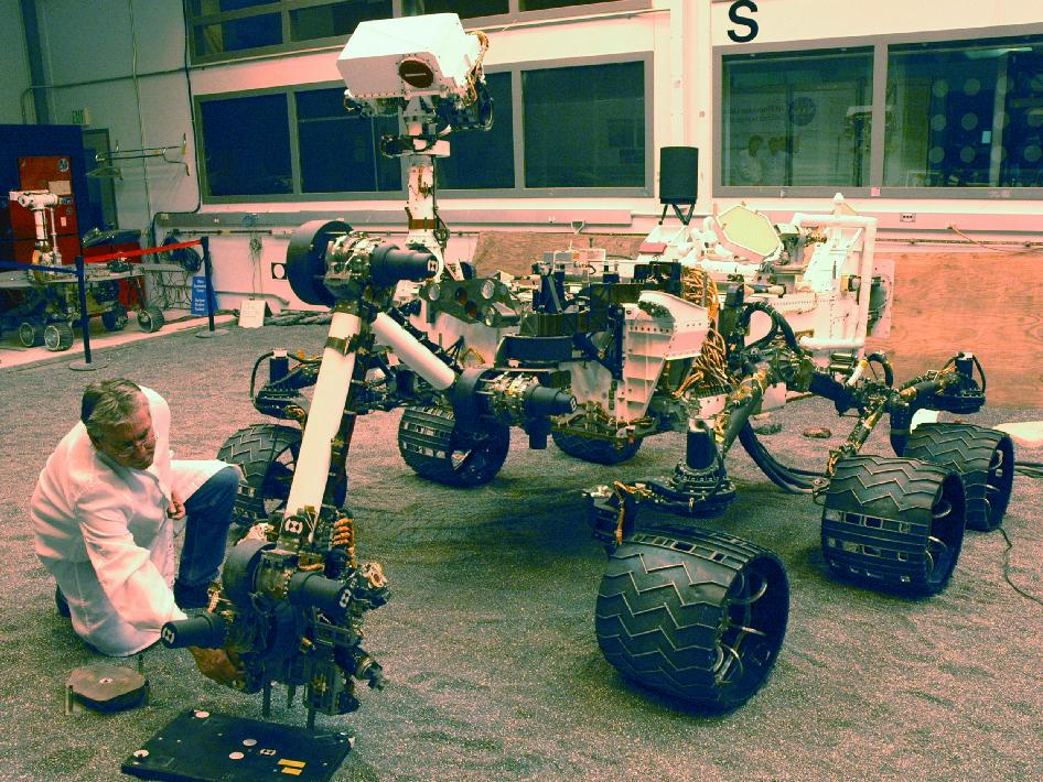 NASA Mars Science Laboratory test rover called the Vehicle System Test Bed, or VSTB