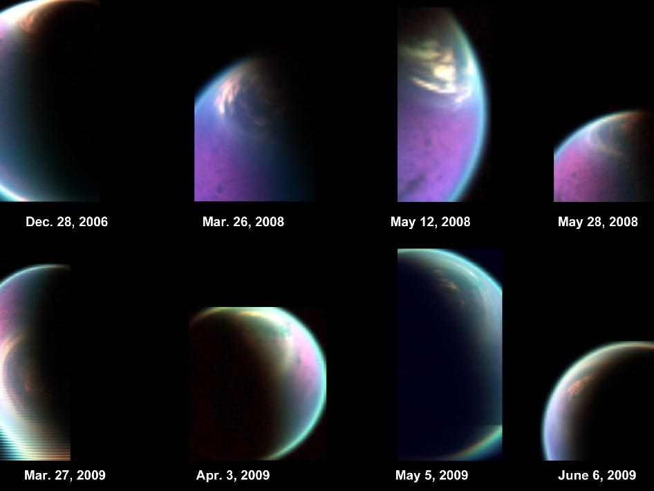 Snapshots of Titan's north polar cloud