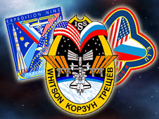 ISS Expeditions 5, 7 and 9 patches