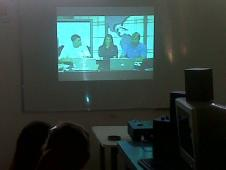 Argentine students videoconference with NASA