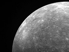 The limb of planet Mercury, seen by the MESSENGER mission