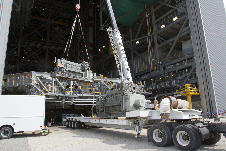 [SLS] Apollo-era crawler transporter upgrades ...