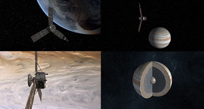 Scenes from Juno mission animations