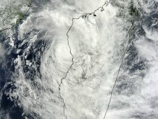 MODIS captured this visible image of Tropical Cyclone Irina on March 1, 2012 at 0715 UTC (2:15 a.m. EST).