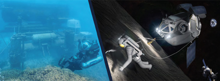 Deepworker submersibles and the Aquarius underwater habitat will be used as analogs for the Multi-Mission Space Exploration Vehicle and Deep Space Habitat. Images credit: NASA
